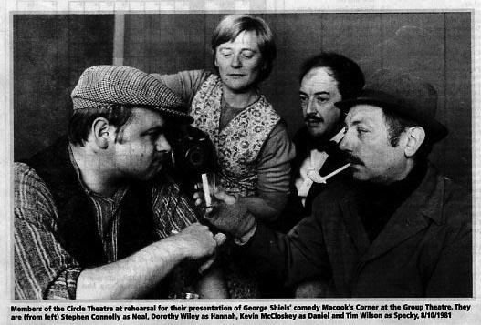 Circle Theatre's 'Macook's Corner', 1981.