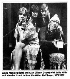 The Clarence Players' production 'How The Other Half Loves', 1982.