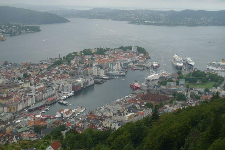 Bergen from Mount Floien