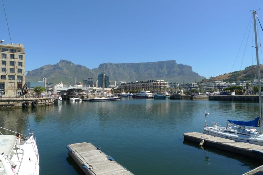 Table Mountain from Victoria and Alfred Waterfront, Cape Town